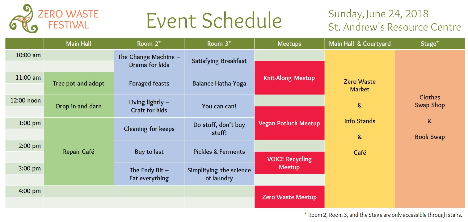 Zero Waste Festival Event Schedule